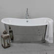 "'The Darley' 73"" Cast Iron French Bateau Tub Package"