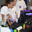 UConn manufacturing ambassadors demonstrate 3D printing at Manufacturing Mania events.
