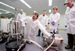 Students get hands-on experience in a biomanufacturing class at BETC.