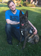 Matthew O'Farrell and his dog Gunner
