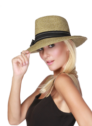 Black Fedora Sun Hat