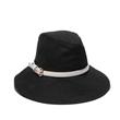 packable black bucket sun hat