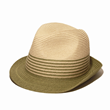 olive green fedora straw hat