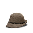 black straw cloche sun hat