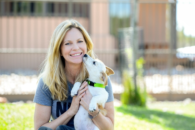 Photo of Kristin Bauer & her Dog