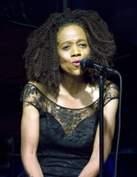 Paula West performs for the Kanbar Center at the Osher Marin JCC in San Rafael on 10/10/15. marinjcc.org/jazz