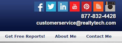 RealtyTech recently added social media icons in the Site Settings menu of their Agent123 Websites.