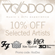 Iconic Shop offers 10 percent off Voodoo Experience artists