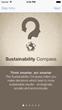 The 'Sustainability Compass' available now on the Apple App...