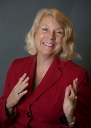 Dr. Betsy Kruger speaks to leaders of small business