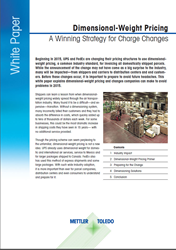 New White Paper to Assist Businesses with Dimensional-Weight Pricing Changes.
