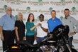 Cypress Bayou Presents Harley to MDA Raffle Winner This Morning