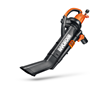 WORX TRIVAC 3-in-1 Compact Blower/Mulcher/Vac (WG509) has electronic, six-speed control.
