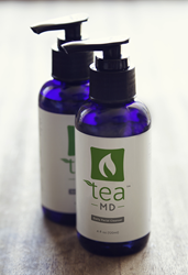Tea MD™'s first product, a daily facial cleanser, sold online for just $29, or $22 with a monthly subscription, has been shown to improve the appearance of inflamed acne, pimples and other blemishes.