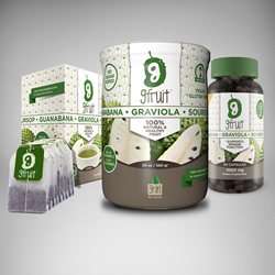 GFruit capsules, herbal tea and fruit