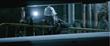 Mining Engineer Inspects Conveyor Belt Operations