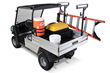 Club Car Carryall utility vehicles accommodate the new VersAttach bed-based attachment system that frees bed space for fewer round trips.