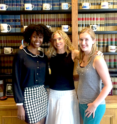 Jasmine Gibson, Margie Shapiro, Shapiro's Owner and CEO, and Emily Reesey