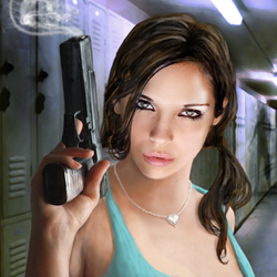 "Cover of interactive novel ""Zombie High""."