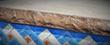 Z poolform Chiseled slate liner