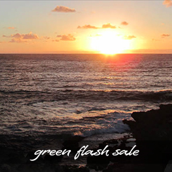 Green Flash Sale on Parrish Kauai Vacation Rentals