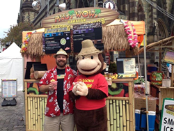 Maui Wowi Franchisee Mike Pyne at Baltimore Book Festival.