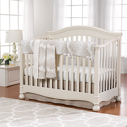 baby bedding, made in USA baby bedding, crib bedding, linen crib bedding