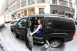 Laura Posada leaving New York Times Headquaters