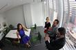 Laura Posada talking to Media Producers