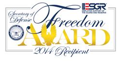 ESGR Freedom Award Badge