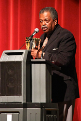 Dr. Samuel Wright receives the Tower of Achievement Award during the UACDC's Annual Gala Friday, Sept. 12, 2014.