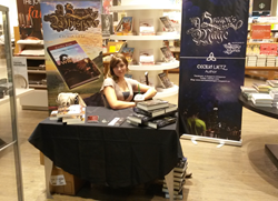 Cecilia Lietz attends a book signing of A Dragon's Mage in Calgary, Alberta