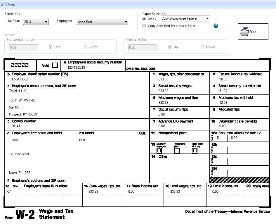 Printable Tax Form Criasite
