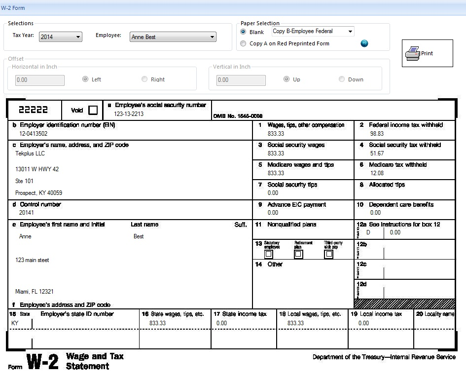 2017 W 2 Form Printable | My Blog