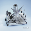 Miele basket for minimally invasive surgical instruments