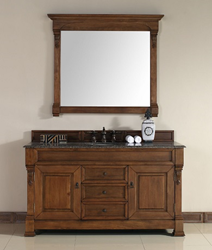 Brookfield 60″ Single Bathroom Vanity In Country Oak 147-114-5371 from James Martin Furniture