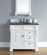 Brookfield 35″ Single Bathroom Vanity In Cottage White 147-114-5546 From James Martin Furniture