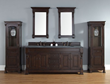 Brookfield 72″ Double Bathroom Vanity With Matching Cabinets And Mirrors In Burnished Mahogany 147-114-5761 from James Martin Furniture