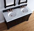 Brookfield 60″ Double Bathroom Vanity In Antique Black With Carrara Marble Vanity Top 147-114-5631 from James Martin Furniture