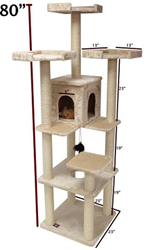 80″ Castia Fur Cat Tree 78899578012 By Majestic Pet Products