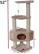 52″ Castia Fur Cat Tree 78899578002 By Majestic Pet Products