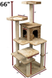 66″ Castia Fur Cat Tree 78899578006 by Majestic Pet Products