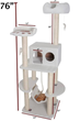 76″ Bungalow Sherpa Cat Tree 78899578019 By Majestic Pet Products