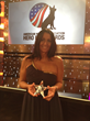 VCA's Eva DeCozio at 2014 Hero Dog Awards Gala with her Hero Veterinarian Award