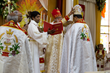 Bishop Joy Alappat receives Mitre from Cardinal Alencherry as part of his consecration as bishop