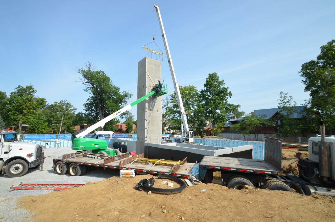 Mills park hotel begins construction with superior walls for Www superiorwalls com