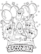 Happy Birthday Coloring Page Now Available from DiscoBratz
