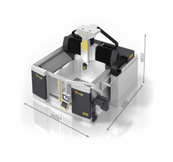 Photo of the Dinox 5-axis gantry milling machine