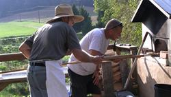 Pat Battle & Tim Pries bake artisan bread at Living Web Farms