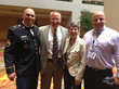 Patriot Project supporters retired US Army Staff Sgt. Shilo Harris (l-r); DuBois; retired US Army Brig. Gen. Rebecca Halstead; and Novelli, DC, pose together at FCA's National Conference in August.